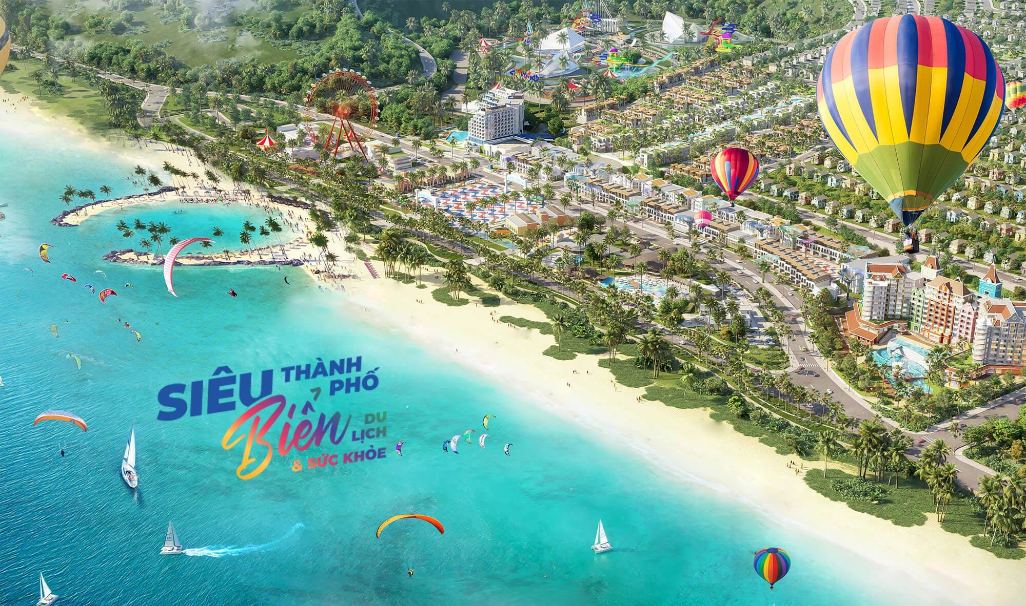 Phối cảnh siêu thành phố biển - du lịch - sức khoẻNovaWorld Phan Thiết